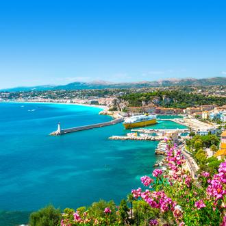 Uitzicht op de Franse Riviera in Frankrijk