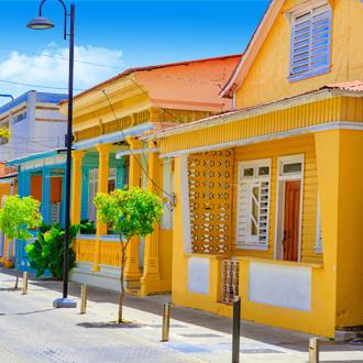 Gekleurde huisjes in de Dominicaanse Republiek