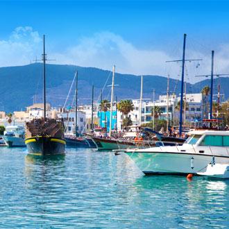 Uitzicht op de haven van Kos, Griekenland
