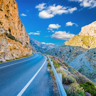 Een kloof in het gebied van Rethymnon op het Griekse eiland Kreta