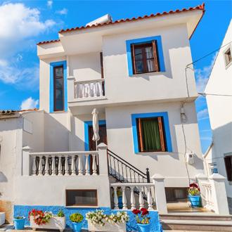 Griekse gekleurde woning in Kokkari