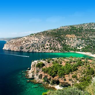 Panoramisch uitzicht op het Griekse eiland Thassos