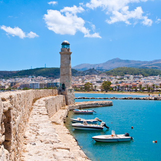 Haven in Kreta, Griekenland