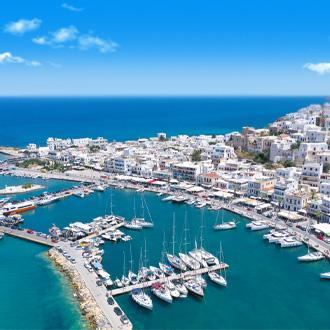 De haven van Naxos in Griekenland