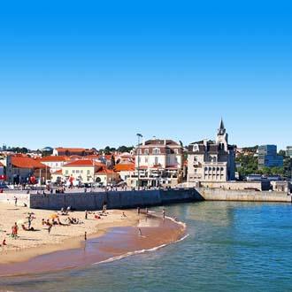 Het dorpje Estoril aan de Costa de Lisboa
