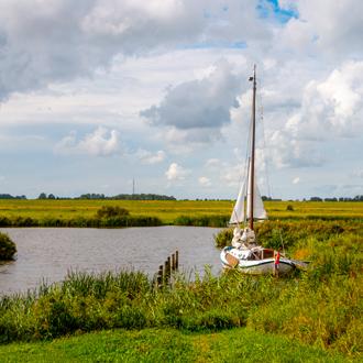 Het nationaal park Lauwersmeer in Groningen