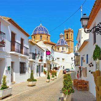 Het oude witte stadje Altea, in Costa Blanca, Spanje