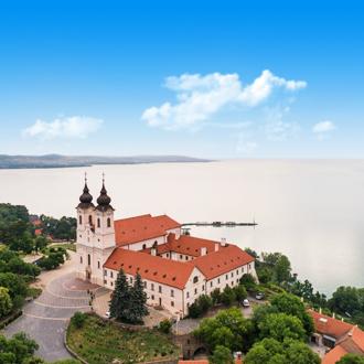 Balaton landaschap van Tihany, Hongarije