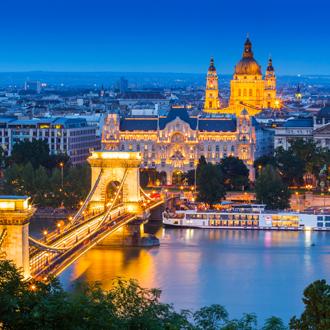 Boedapest in de avond, Hongarije