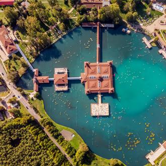 Lake Heviz in Hongarije