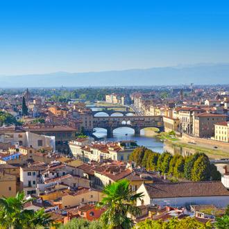 Uitzicht op de Arno rivier