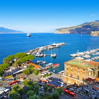 Haven van Sorrento in Italie