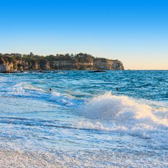 Uitzicht op de Tyrreense Zee, Italie
