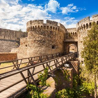 Kalemegdan Fort kasteeltorens, Belgrado, Servie