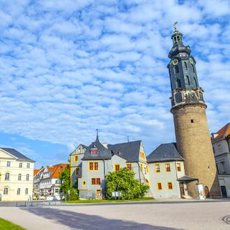 Een kasteel in Weimar in de deelstaat Thuringen, Duitsland