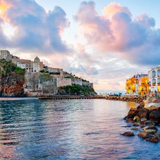 Kasteel op een rots Ischia, Italië