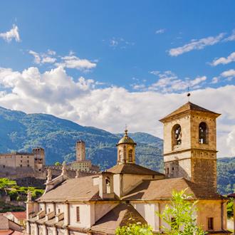 Kasteel van Bellinzona in Ticino