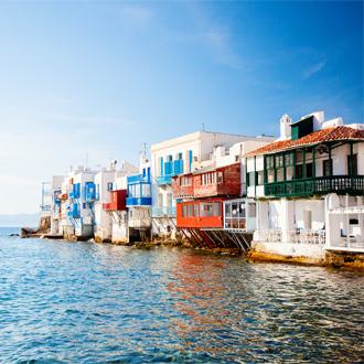 Klein Venetie in Mykonos-stad in Griekenland
