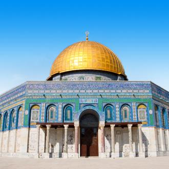 Koepel van de rots op de tempelberg in Jeruzalem