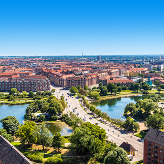 Uitzicht op de stad Kopenhagen