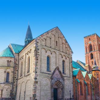 Uitzicht op een kathedraal in Kopenhagen