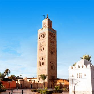 Toren van de Toutoubia Moskee in Marrakech