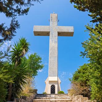 Kruis op Filerimos berg in Ialyssos Rhodos