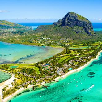 Le Morne Brabant berg in het zuiden van Mauritius