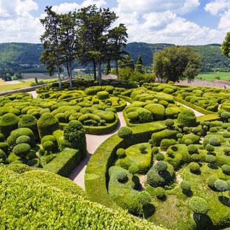 De tuinen Les Jardins de Marqueyssac Vezas in Dordogne