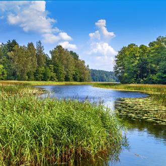 Een meer in het nationale park Aukstaitija