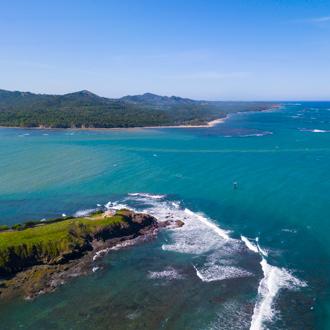 Een luchtfoto aan de Noordkust van de Dominicaanse Republiek, Playa Dorada