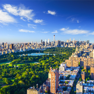 Luchtfoto van Central park in Manhattan, New York, USA
