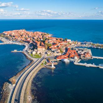 Luchtfoto van Nessebar aan de Zwarte Zeekust