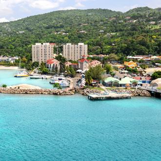 Luchtfoto van Ocho Rios, Jamaica