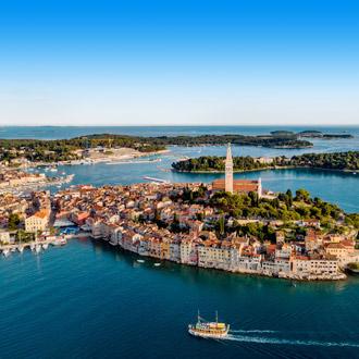 Luchtfoto van Rovinj, Istrie, Kroatie