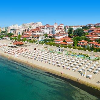 Luchtfoto van Sunny Beach in Bulgarije