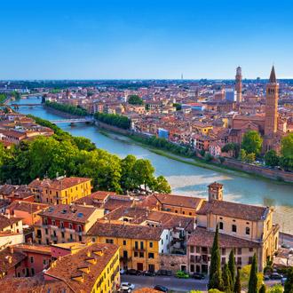 Luchtfoto van Verona in Veneto