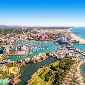 Luchtfoto van Vilamoura, Algarve, Portugal