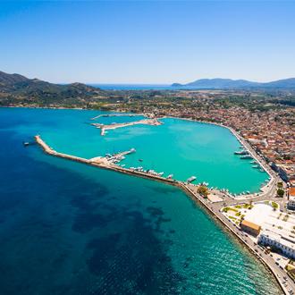 Luchtfoto van Zakynthos stad, Zakynthos, Griekenland