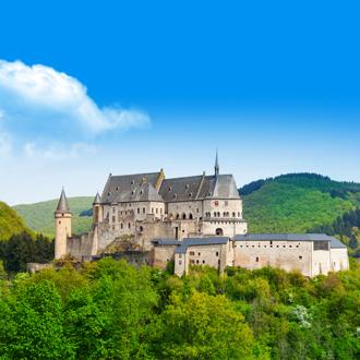 Foto van het kasteel in Vianden