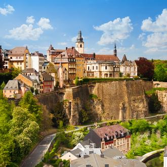 Uitzicht over de stad Luxemburg