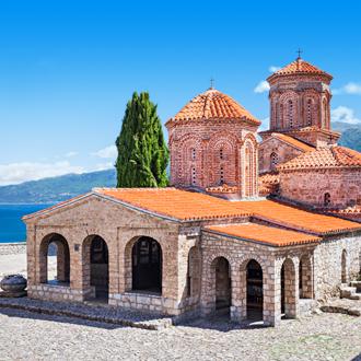 Het klooster van Sveti Naum in Macedonie