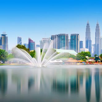 Uitzicht op de stad Kuala Lumpur