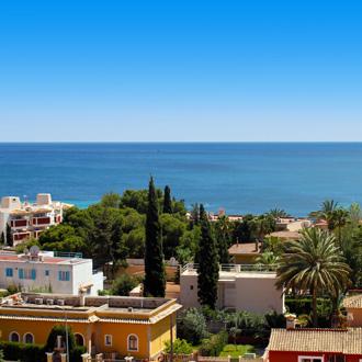 Uitzicht over de zee in Palma Nova