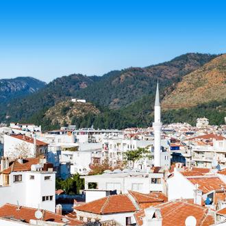 Uitzicht over de stad Marmaris in Turkije