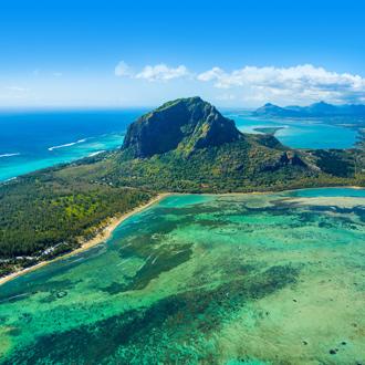 Le Morne Brabant berg in Mauritius