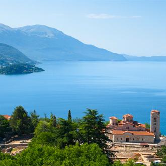 De Saint Climent kerk in Ohrid, Macedonie
