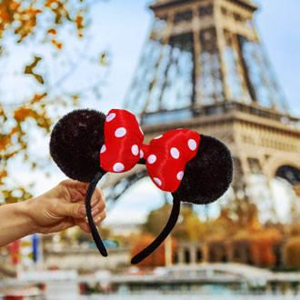 Minnie Mouse oortjes in Frankrijk