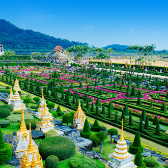 Nong Nooch botanical garden in Pattaya, Thailand