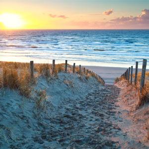 Vakantie aan de kust Nederland